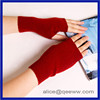 high quality knitting pure color women half and fingerless wool gloves in winter