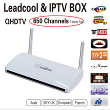 Arabic Iptv Box Leadcool Android Box +Three Months Qhdtv Iptv Account Iptv  Box Europe Channels Arabic Channels Over 640 Channels