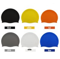 Various design multi-colors custom premium silicone swim cap