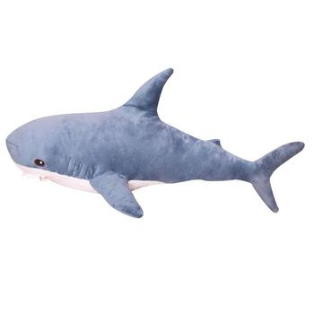 tuffed Shark Plush Sea Animal Toys Ocean Life Throw Pillow Beautiful Shark Markings Birthday for Kids and decoration