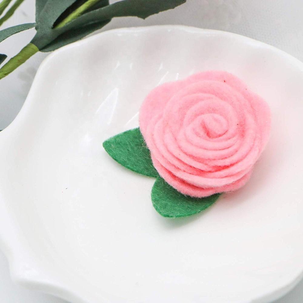 Handmade Felt Flowers for Crafts Headbands Clothes Craft Accessories