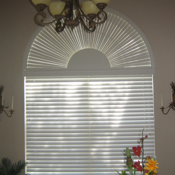 Custom Retractable Arch Blinds For Windows Blinds Eyebrow Arch