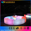 Curve LED Bench Seating RGB with Light Color Change