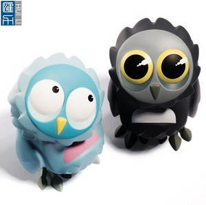 lovely owl shape vinyl pvc figure, cute animal vinyl figure toy, custom animal pvc figure toy