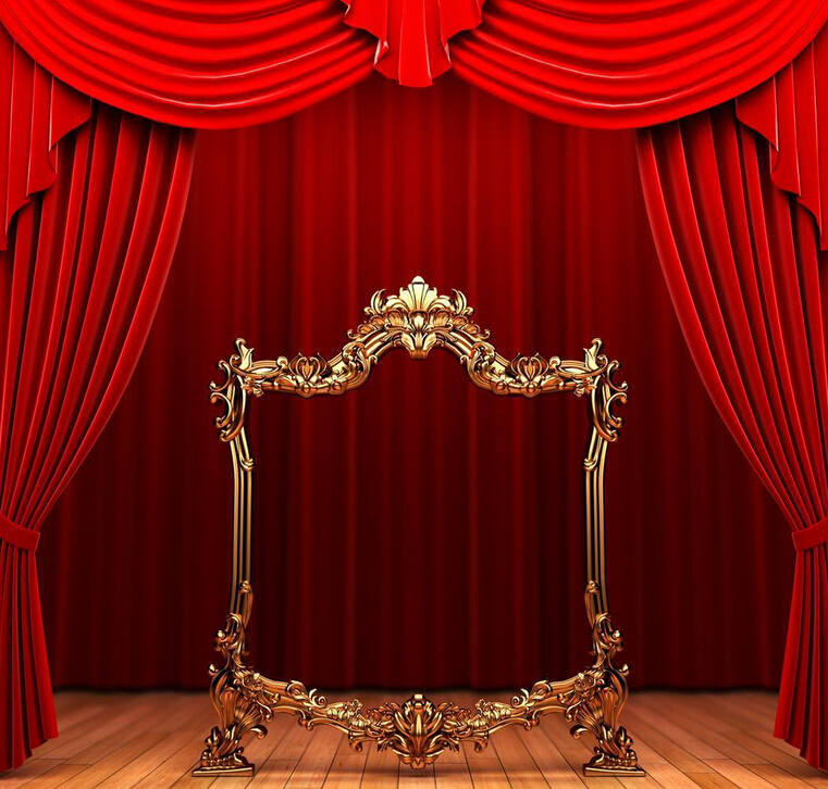 Motorized And Electric Luxury Red Stage Curtains For
