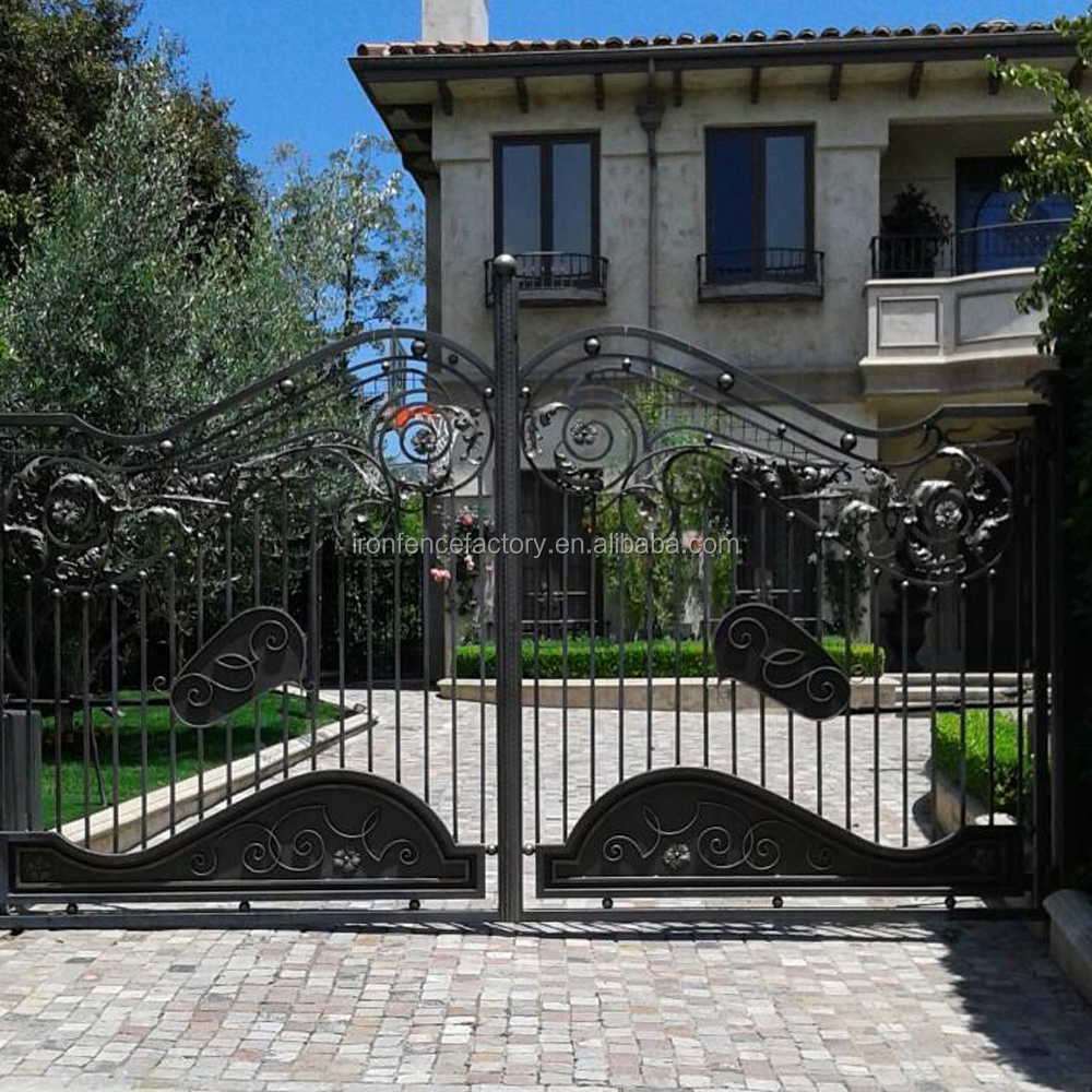 2015 New Models Beautiful Galcanized Wrought Iron Main Gate Colors ...