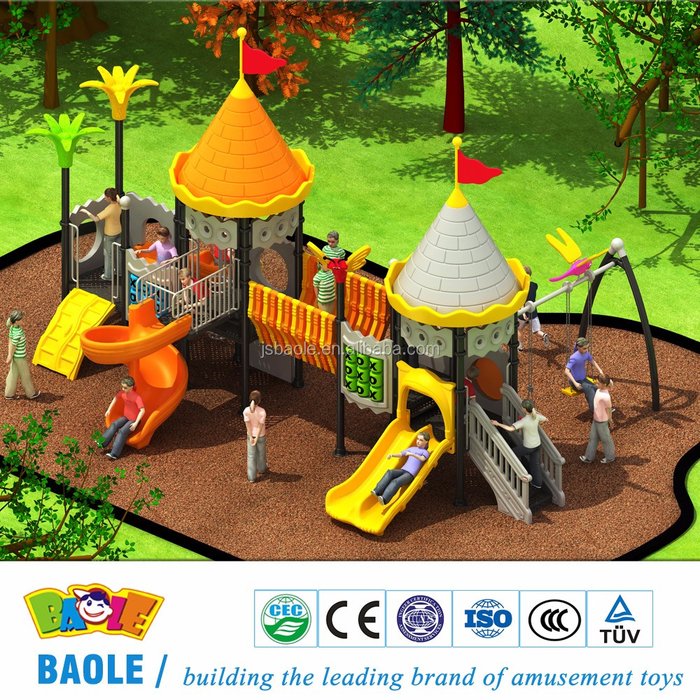 The castle theme of children's amusement playground equipment with blow moulding