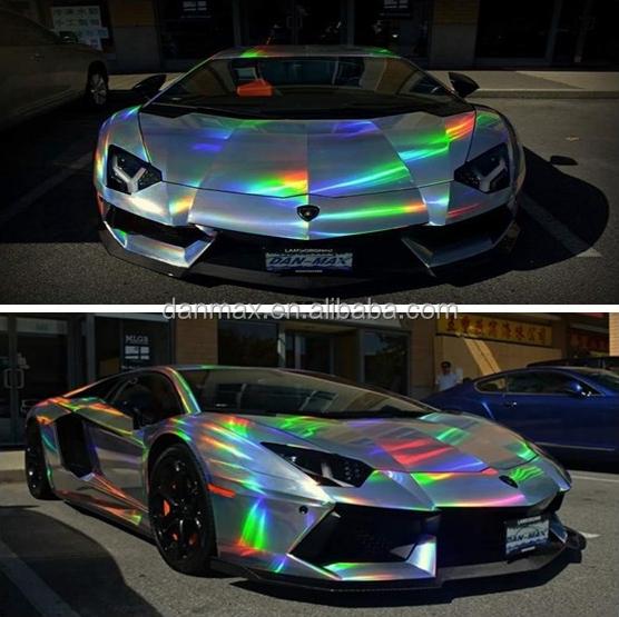 High Relfective Chameleon Chrome Holographic Rainbow Film