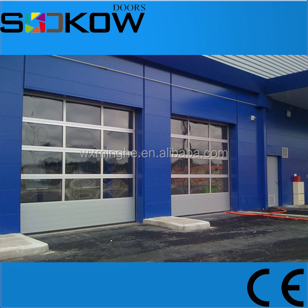 frosted tempered glass garage door 4s shop
