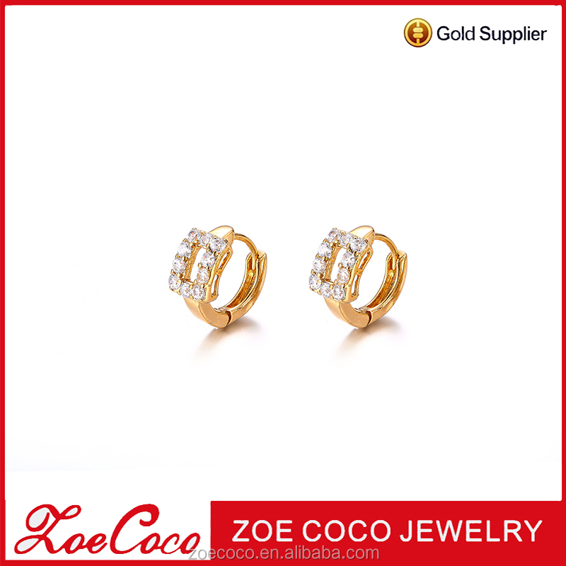 Zoe coco cheap wholesale fashion earrings, sandi gold jewelry hoop earring,24K gold hoop earrins