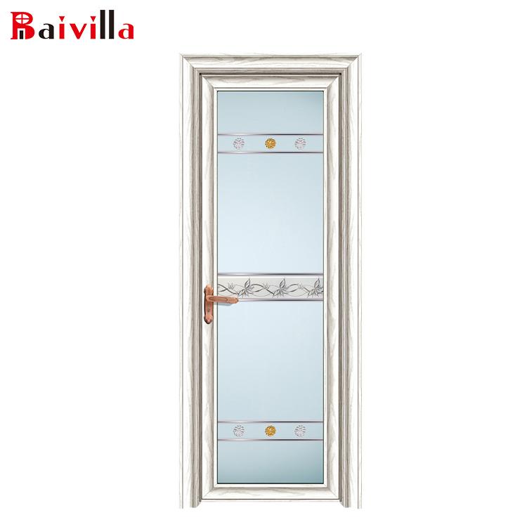 Cheap Economic Glass Single Leaf Waterproof Aluminium Bathroom Doors