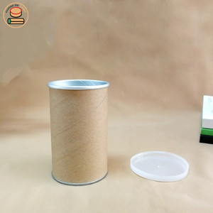 Factory price high quality blank kraft paper tube cans packing cardboard paper tube packaging