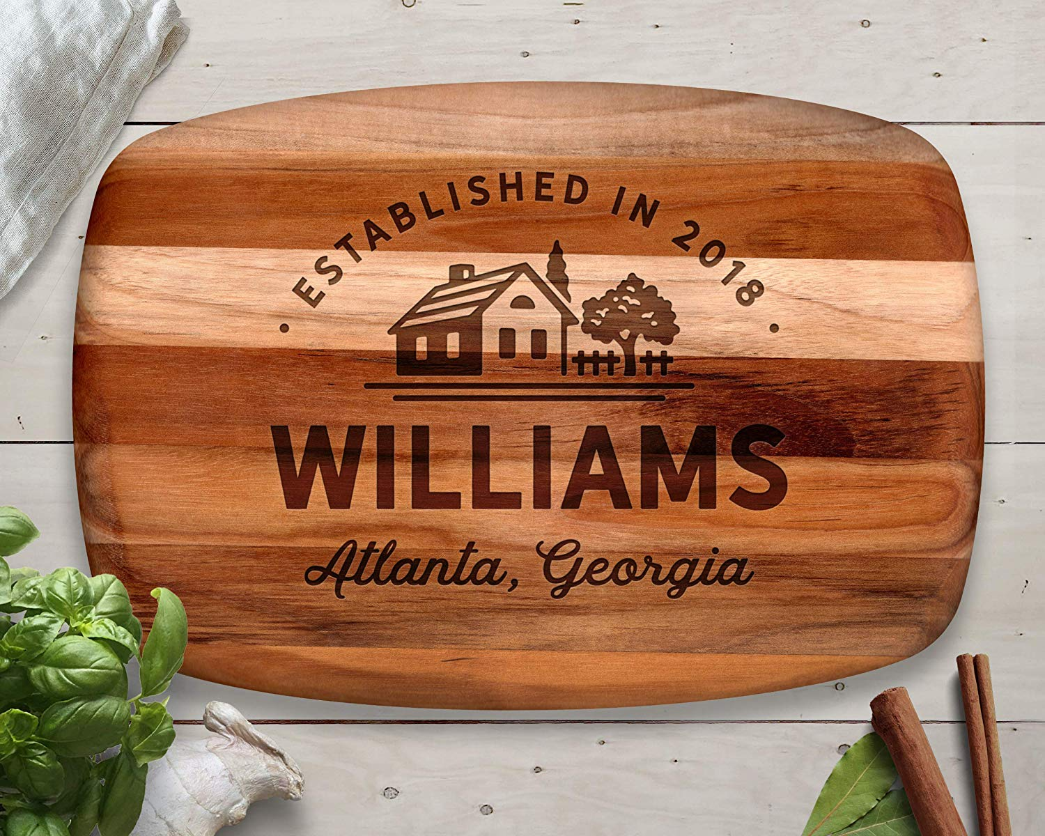 Custom Cutting Board, Teak, Personalized Cutting Board, Christmas Gift Ideas, Christmas Gifts, Personalized Gift, Gifts for Her, Christmas 2018, Gift for Parents, Gift for Wife
