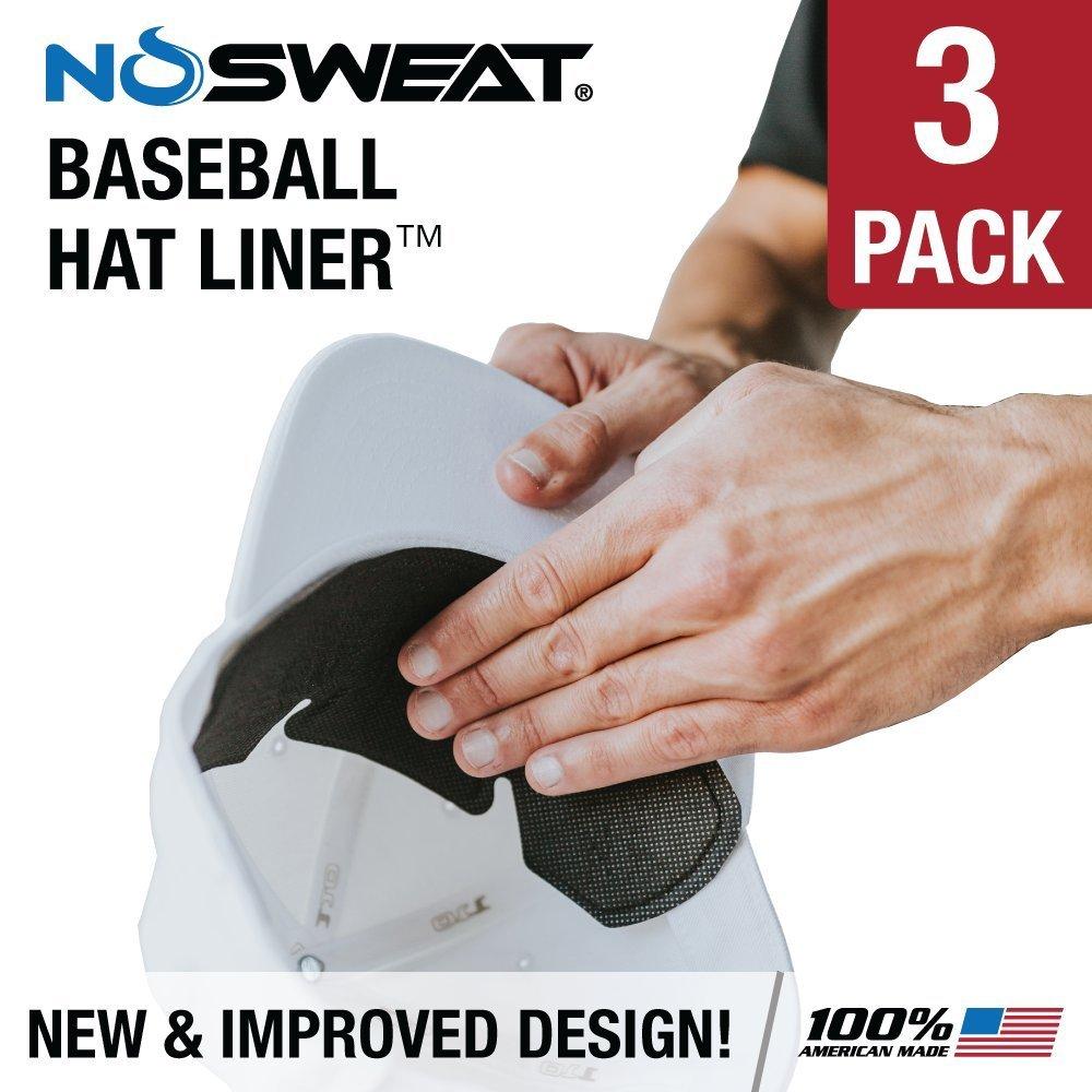 9b2da226332c9 Get Quotations · No Sweat Baseball Hat   Batting Helmet Liner -- Absorbs Dripping  Sweat   Moisture Wicking