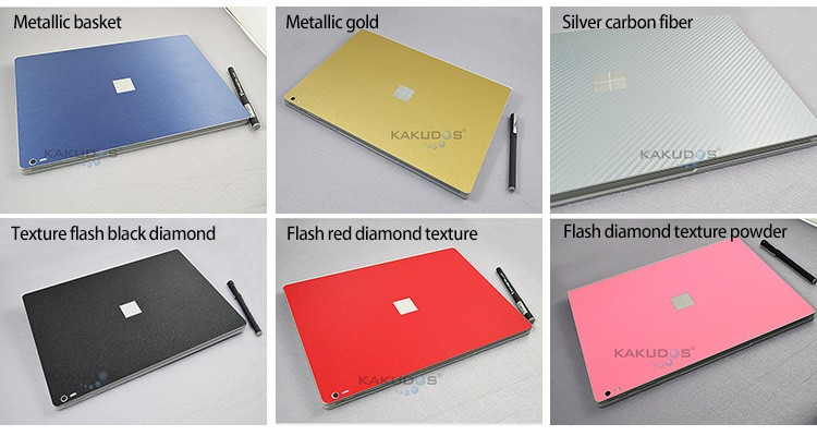 OEM Custom design laptop brushed silver skin for surface pro 4