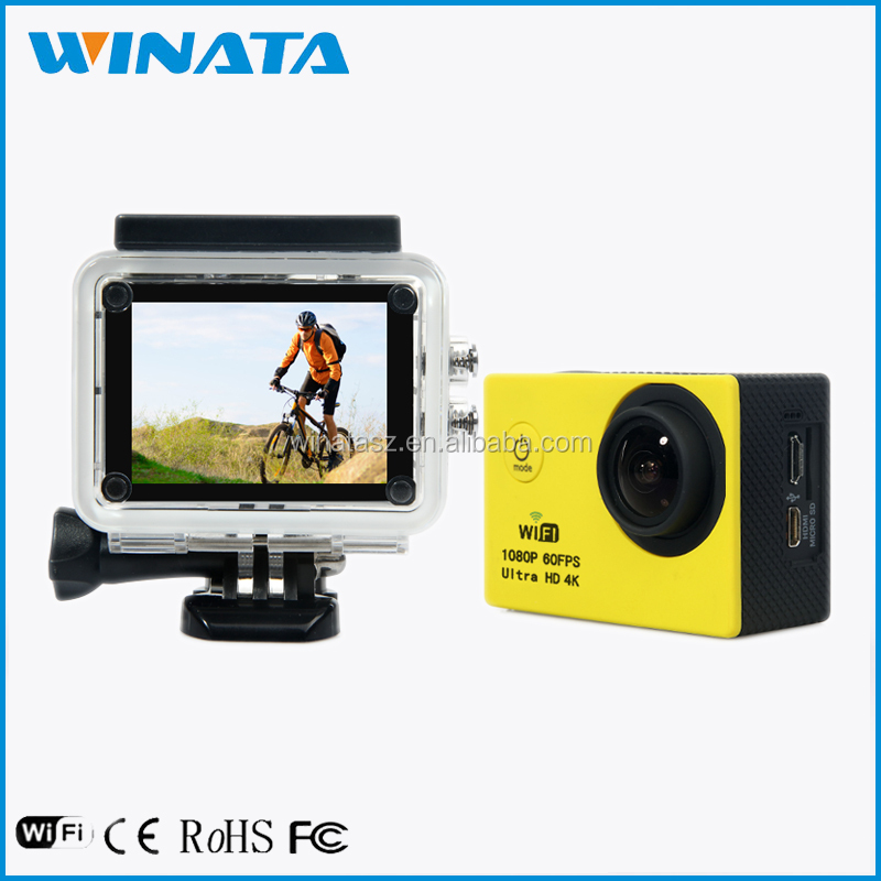 China Factory 2015 Real Ultra 4K Video Sports Camera WiFi Underwater Extreme 4K POV Camera 1080P