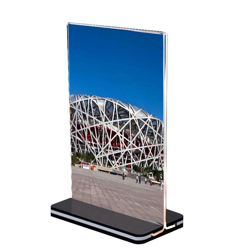 best seller acrylic table display stand paper baby photo frame