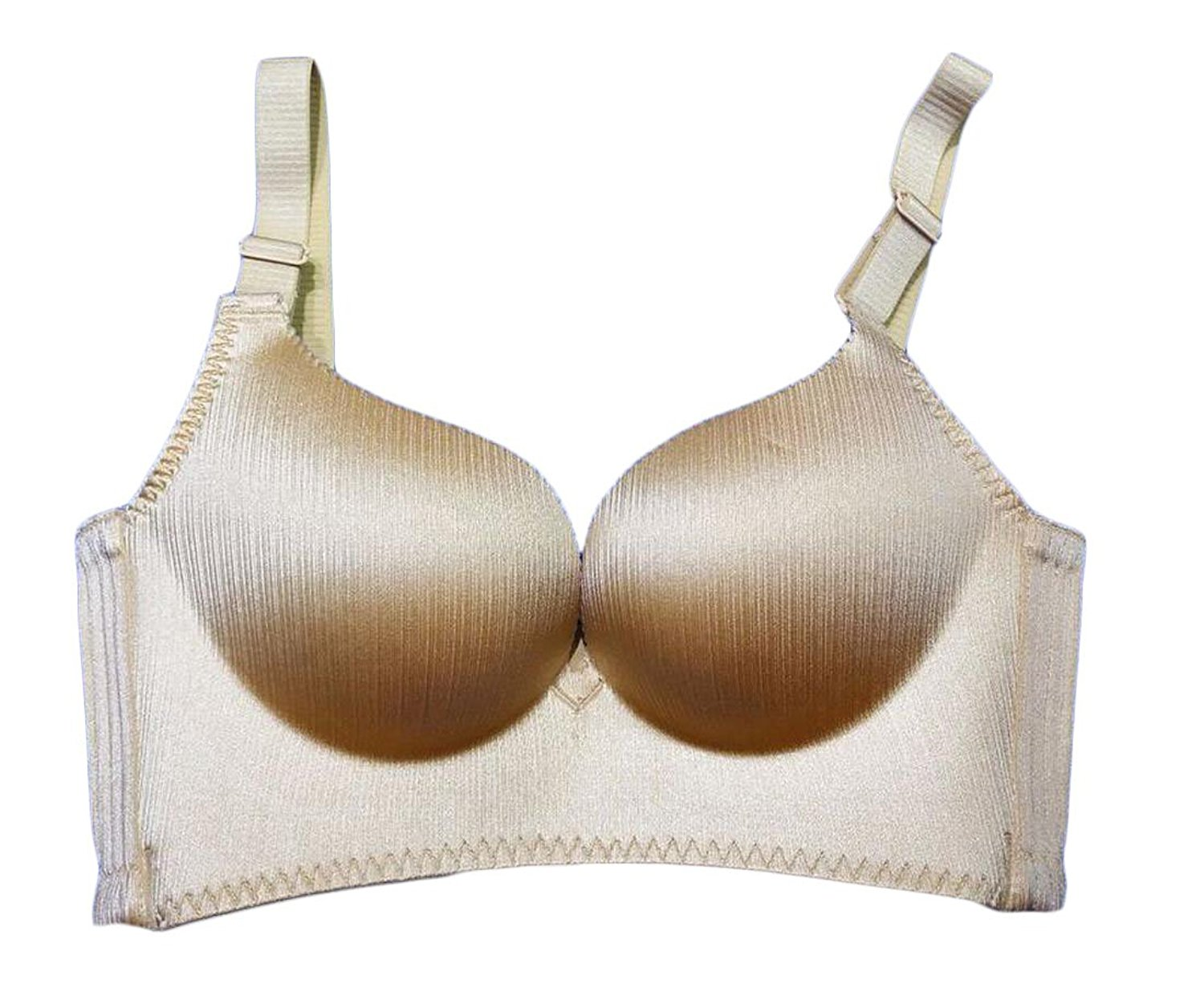 9c4ae54d203 Get Quotations · ouxiuli Women s Casual Unlined Wire Free Top Bras No Rims  Seamless