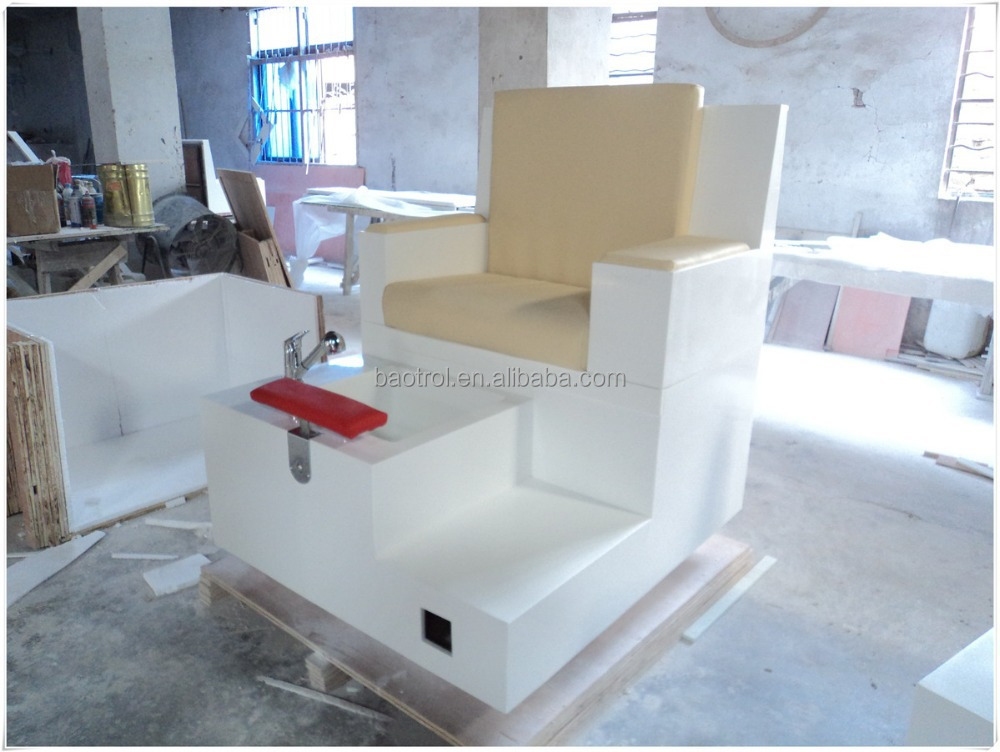 Usine professionnelle artificielle marbre nail salon table for Sillas para manicure y pedicure de segunda