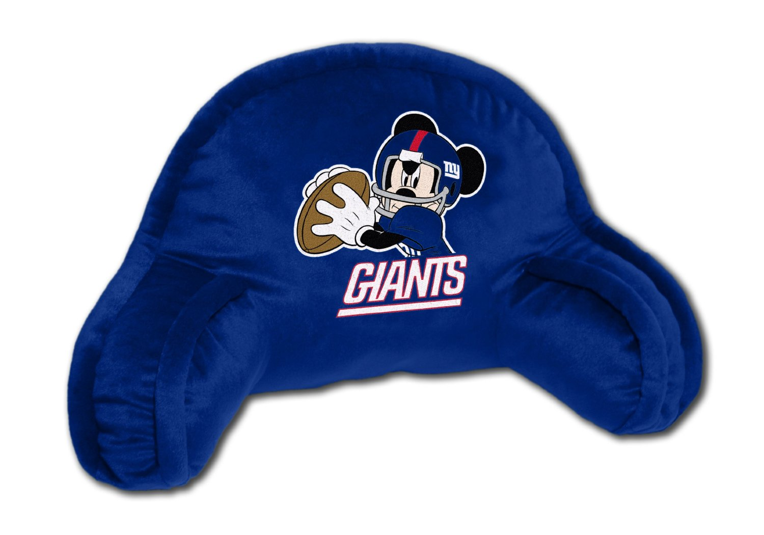 NFL New York Giants Mickey Mouse Plush 12-Inch-by-20-Inch Embroidered Bed Rest Pillow