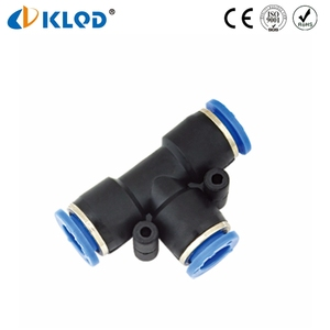 Plastic Same Size PUT Pneumatic Pipe 4mm Air Tee Fitting