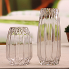 Decorative glass flower vase for wedding, glass flower holder