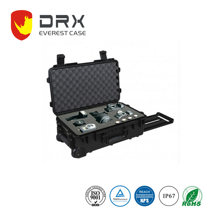 Ip67 Hard Plastic Case Safety Equipment Case With Foam And Wheels For Camera