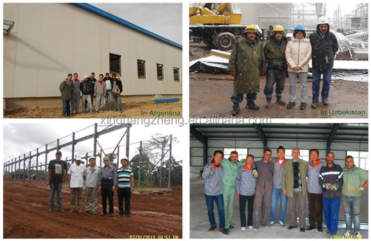Crane equiped large span steel structure warehouse