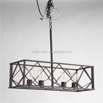 Light Blacksmith Kitchen Island Lights Carriage Lanterns Style Vintage Pendant Chandelier