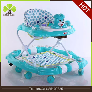 New design baby educational safety funny double used baby walker with music