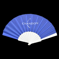 Custom design printed promotional foldable nylon hand fan