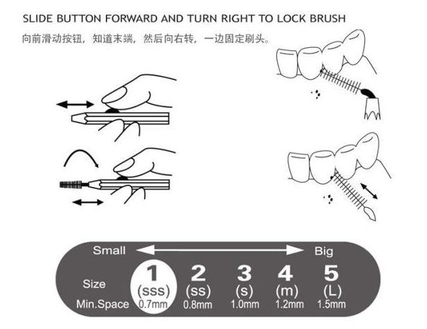 interdental cleaner how to use
