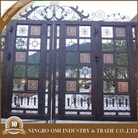 iron gate designs ,wrought iron bulletproof door/.new products of steel tubular grill design gate/ sliding gate design / new des