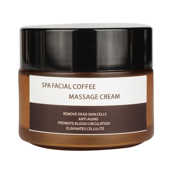 Pure natural deep cleansing coffee facial and body scrub for SPA massage