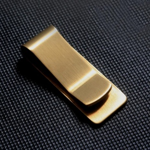 Fashion wholesale men gifts metal brass money clip hardware for billfold