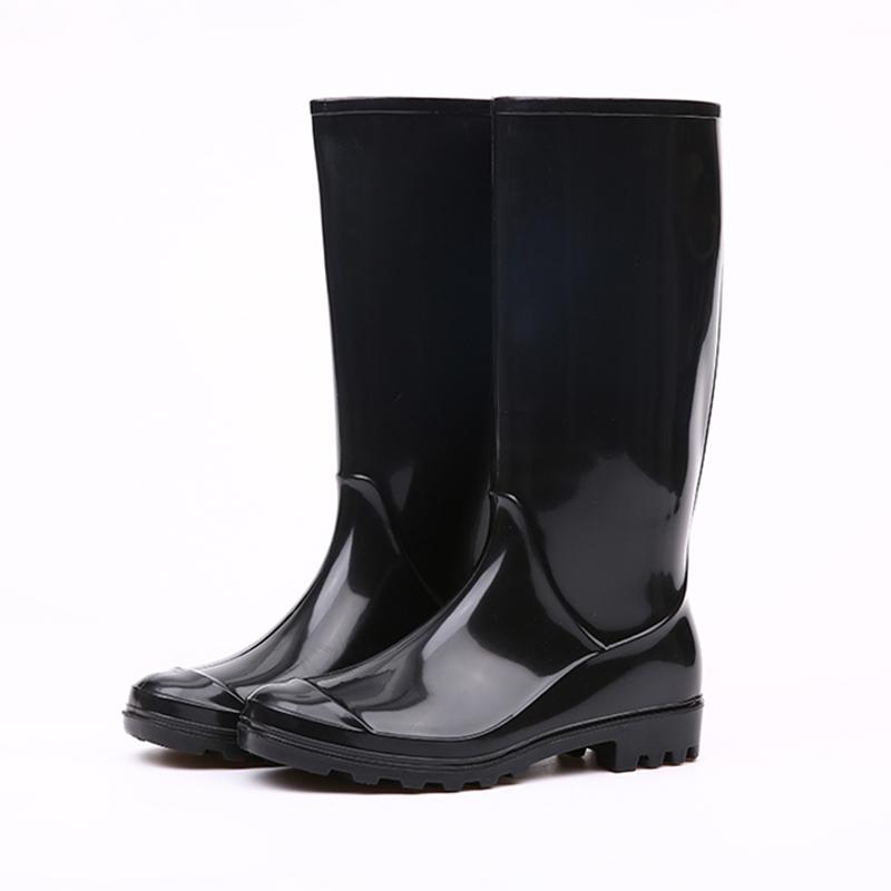 Black Women Rain Boots,Shiny Black Rain