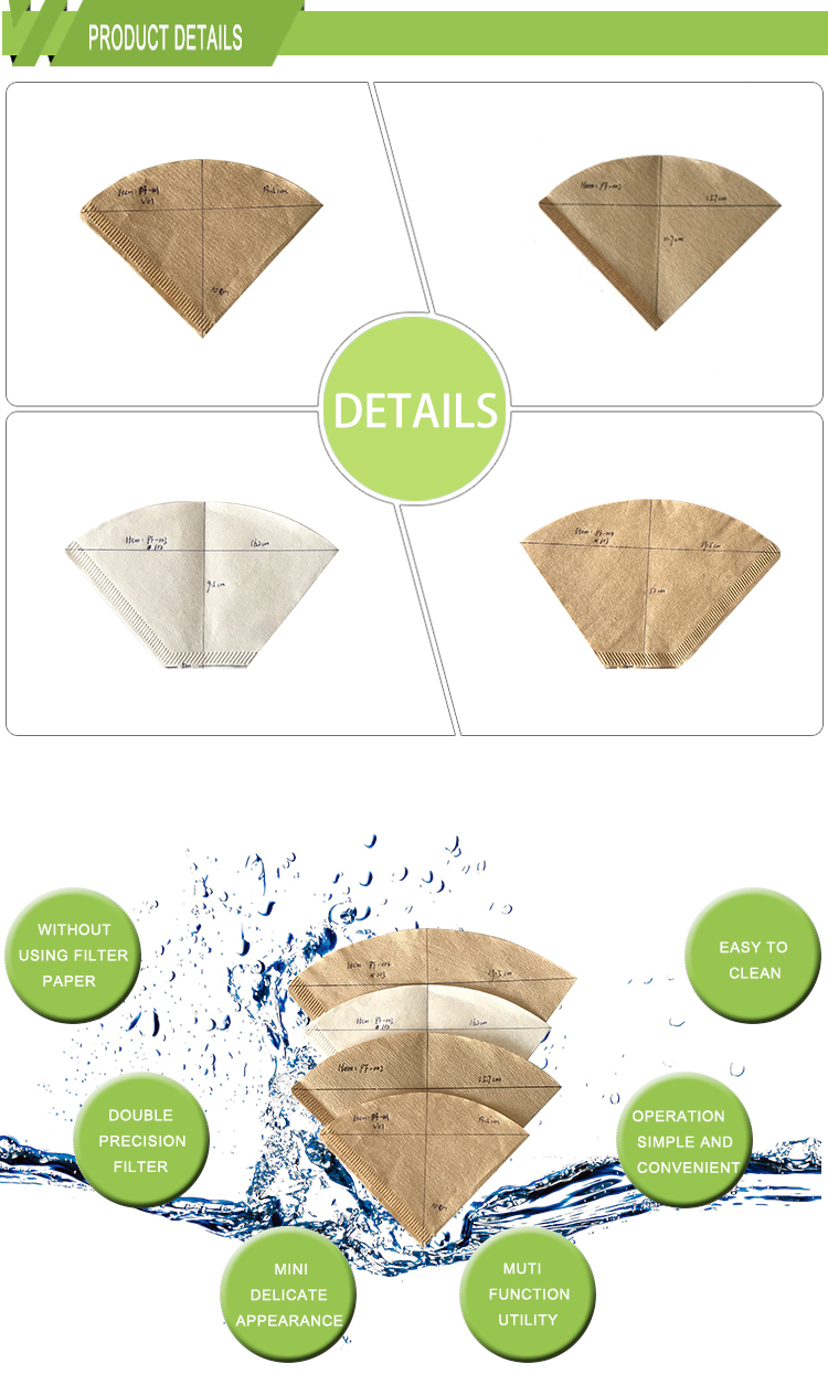 Top sale v60 Coffee Paper Filter (Size 01, 100 Count, Natural)