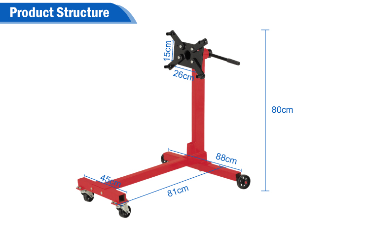 1000lbs Auto Tools moter rotating hydraulic engine stand bracket