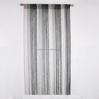 Clear rope black and white string curtain design for room divid