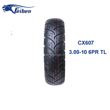 FEIBEN CHINA TOP BRAND TYRE CX607 SCOOTER TYRE 3.00-10 MOTORCYCLE TUBELESS TYRE
