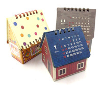 House Shape Design Decorated Printing Desk Calendar