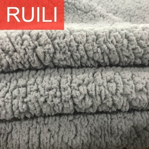 DTY material sherpa fleece fabric lining wholesale