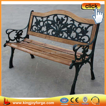 Stupendous Outdoor And Patio Park Wooden Bench With Cast Iron Back And Legs Buy Wooden Bench Cast Iron Park Bench Wood And Metal Park Bench Product On Machost Co Dining Chair Design Ideas Machostcouk