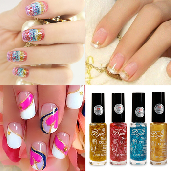 Lilyangel 10ml Colorful Nail Polish Art Pen Striping Brush In Bottle Glitter Powder