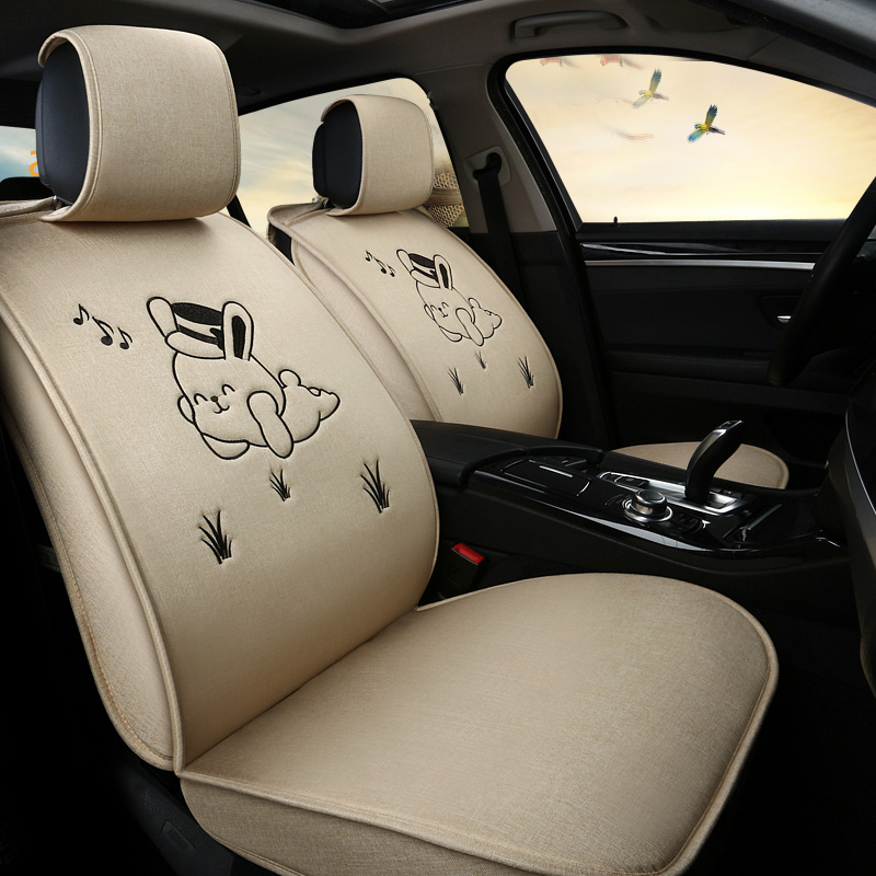 Full Set Lady Pink Car Seat Cover