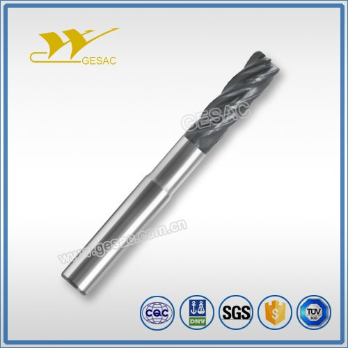 5 Flute Corner Radius with Reduced Neck Unequal Flute Spacing Tungsten Carbide End Mill for Titanium Alloys High Performance Mac