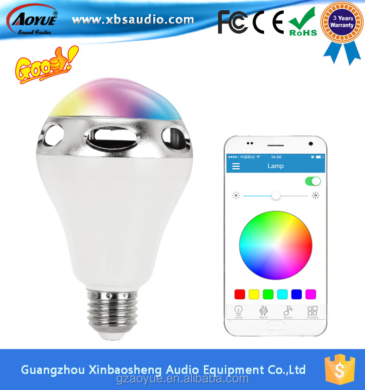 APP Colorful led light bulb speaker with innovation design,New Timing function !