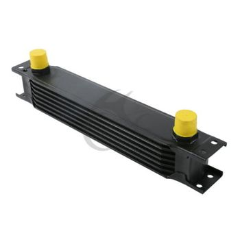 TCMT XF230501-BK Universal 7Row AN-10AN Aluminum Engine Transmission Oil Cooler British Type