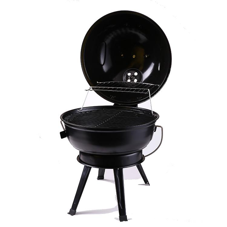 Handig Beweegbare indoor houtskool grill karren grill barbecue