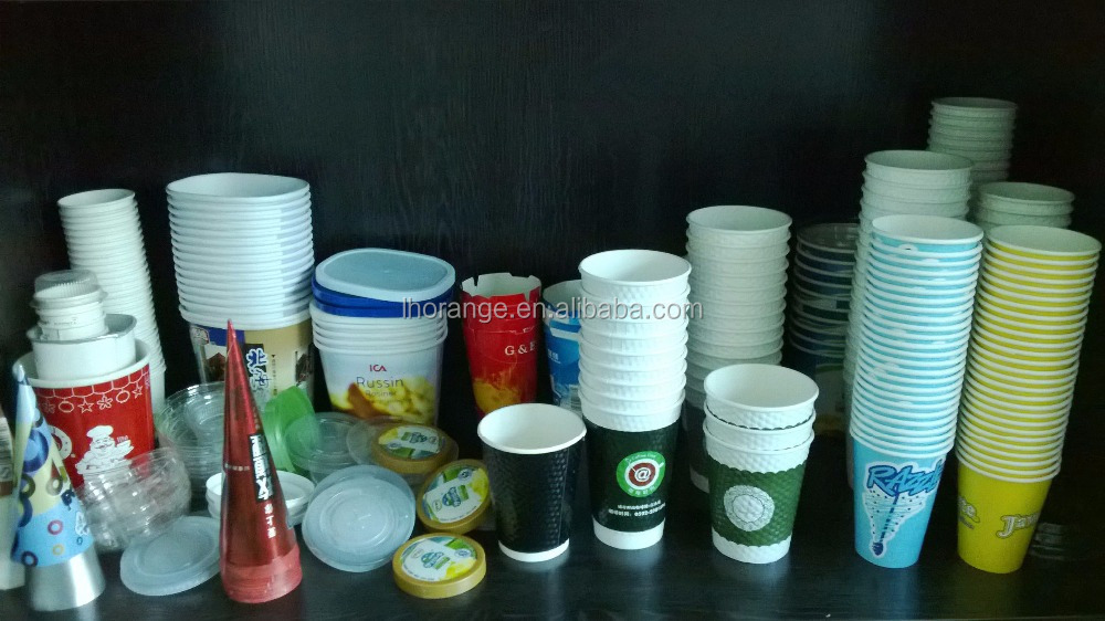 High Speed coffee tea ice cream disposable paper cup making machine